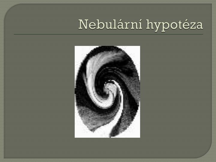 Nebulární hypotéza