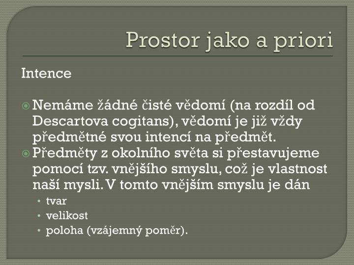 Prostor jako a priori