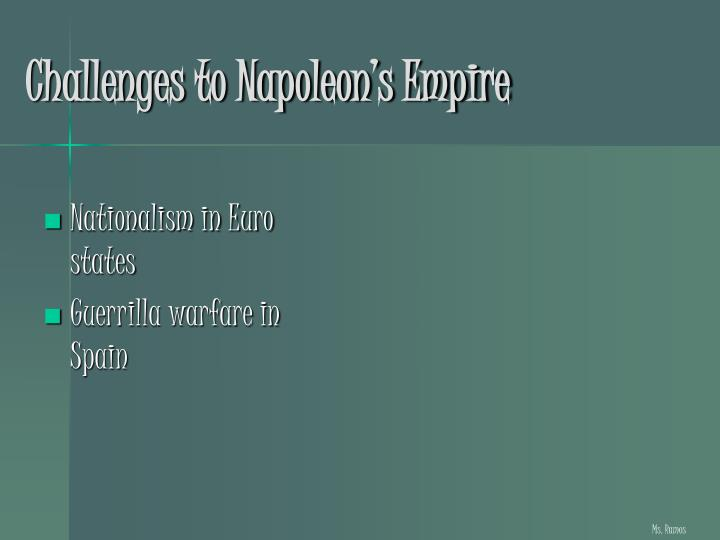 Challenges to Napoleon's Empire