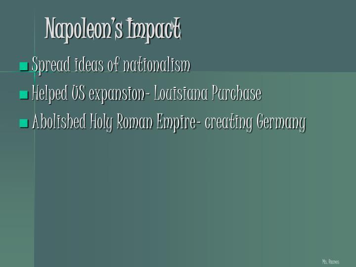 Napoleon's Impact