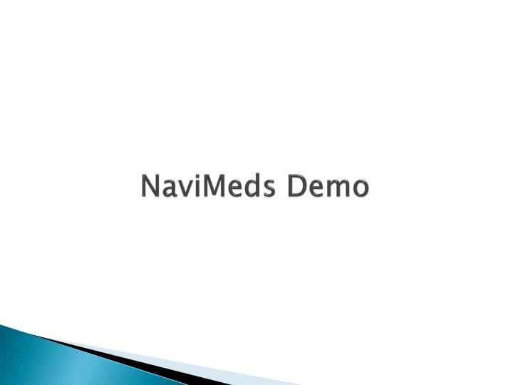 NaviMeds Demo