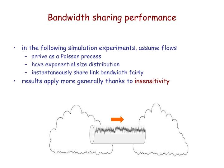 Bandwidth sharing performance