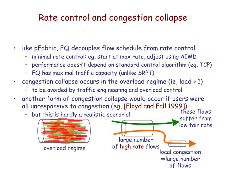 Rate control and congestion collapse