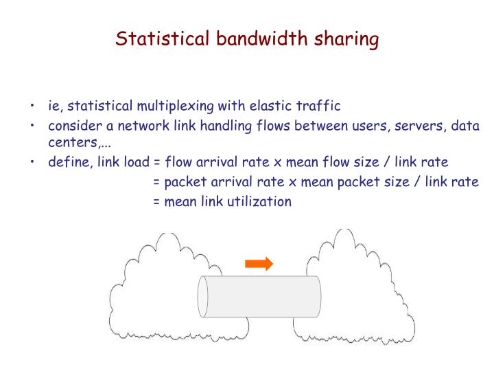 Statistical bandwidth sharing