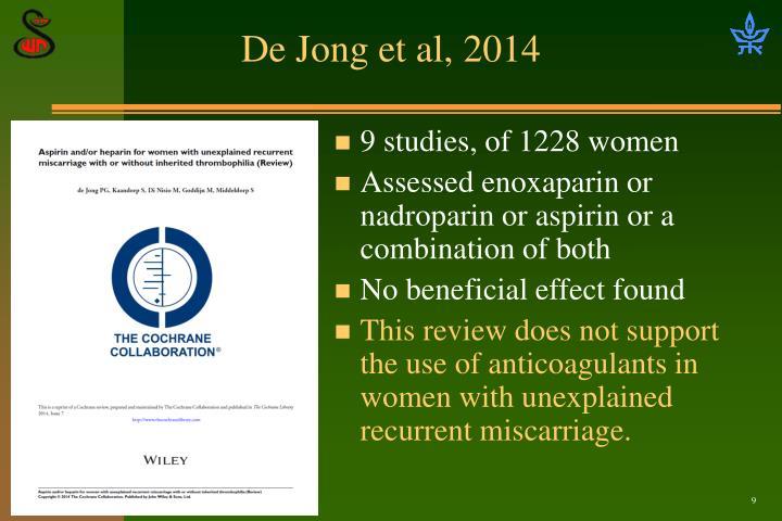 De Jong et al, 2014