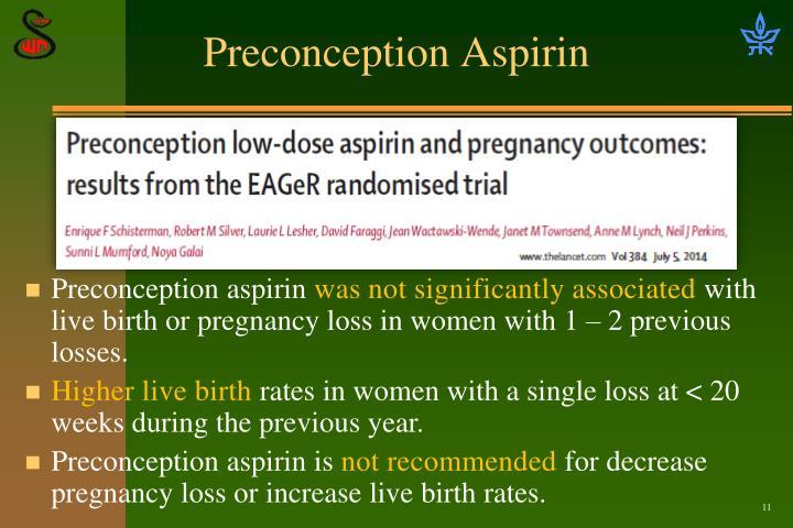Preconception Aspirin