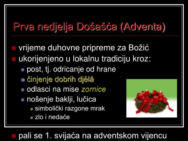 Prva nedjelja Došašća (Adventa)