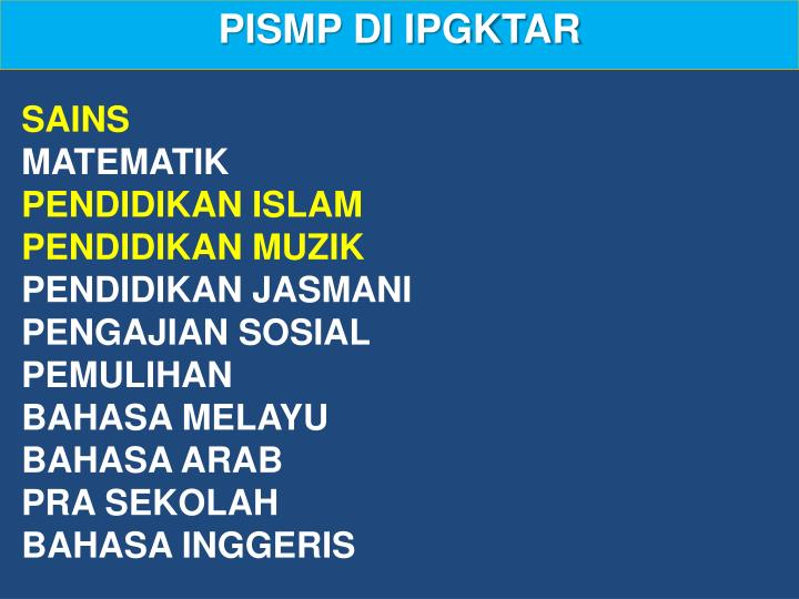PISMP DI IPGKTAR