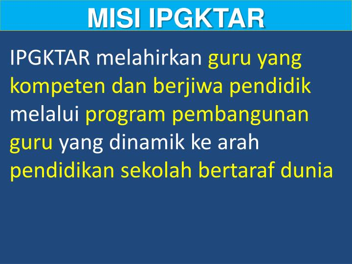MISI IPGKTAR