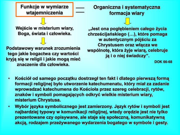 Organiczna i systematyczna formacja wiary