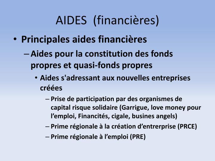 AIDES  (financières)