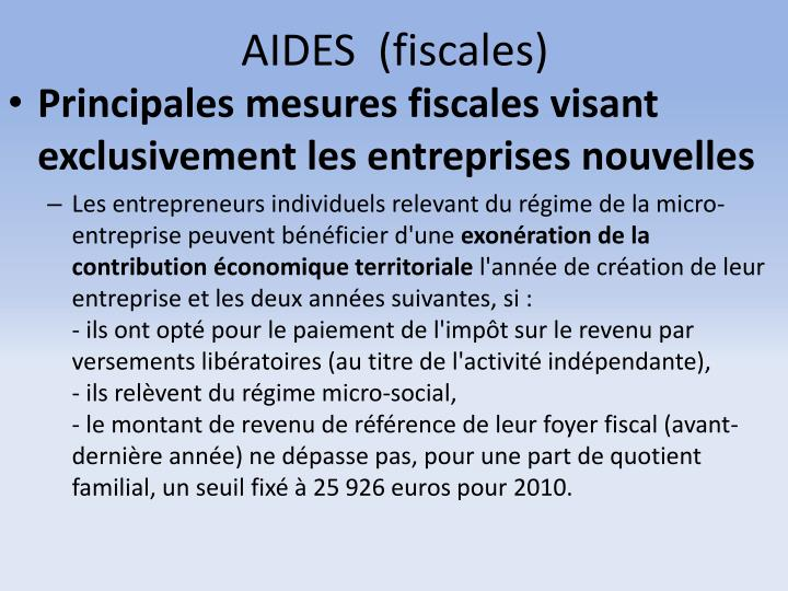 AIDES  (fiscales)