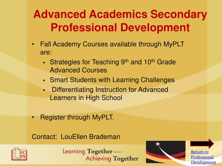Advanced Academics Secondary