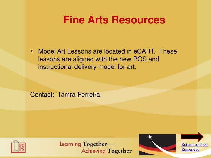 Fine Arts Resources