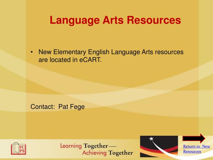 Language Arts Resources