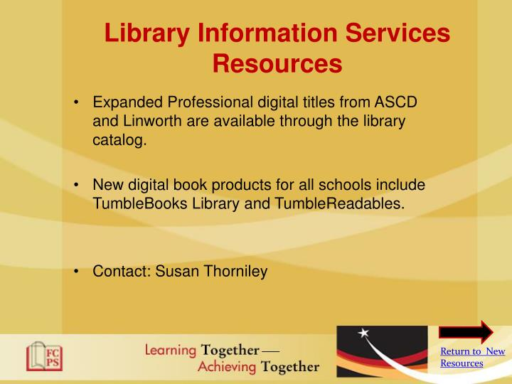 Library Information Services Resources
