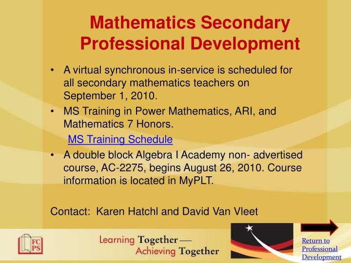 Mathematics Secondary