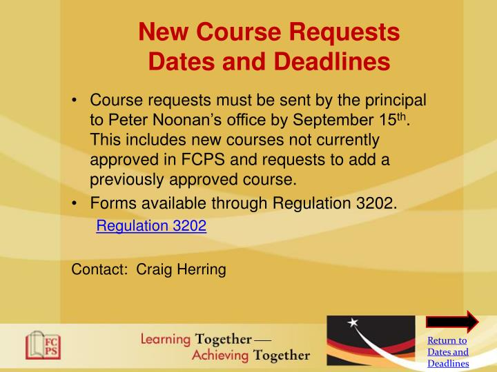 New Course Requests