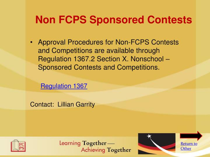 Non FCPS Sponsored Contests