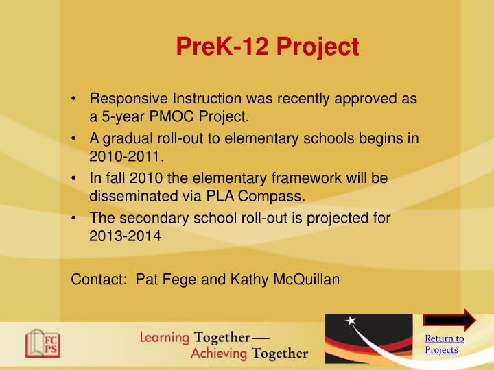 PreK-12 Project