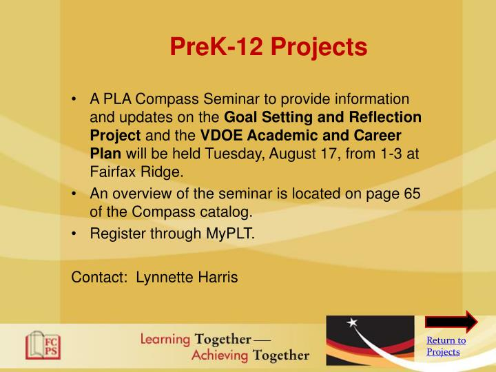 PreK-12 Projects