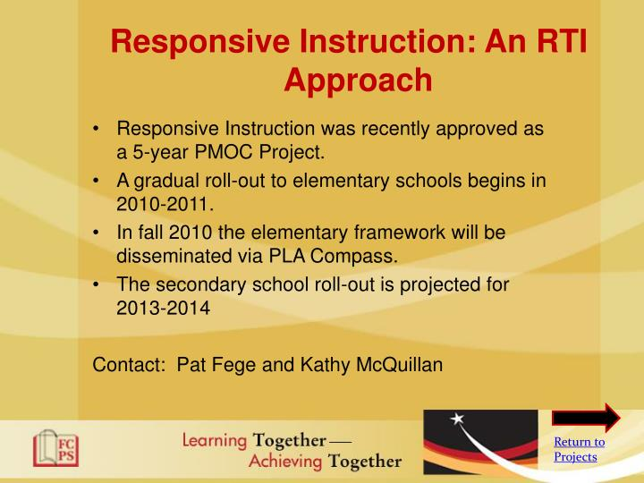 Responsive Instruction: An RTI Approach