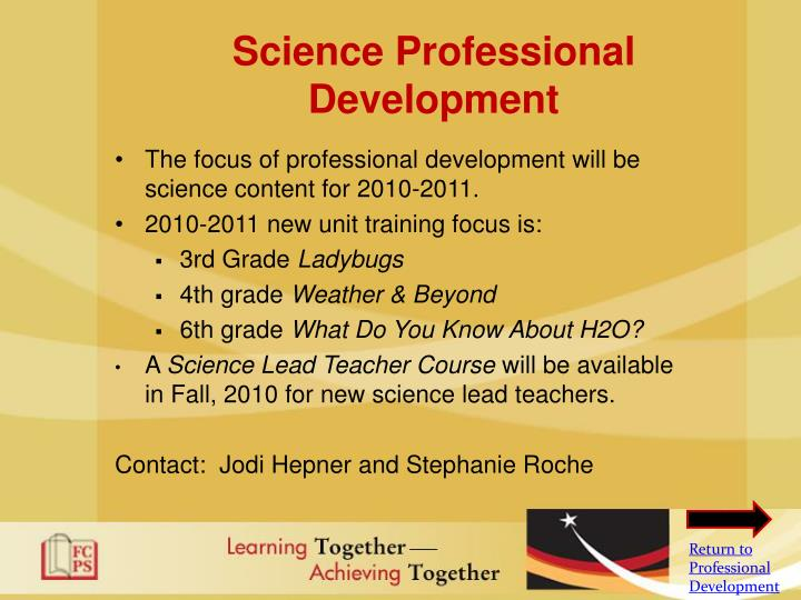 Science Professional Development
