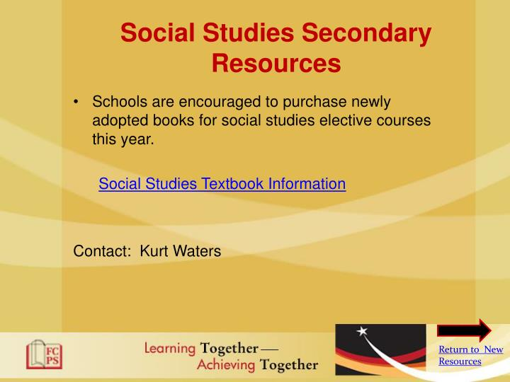Social Studies Secondary Resources