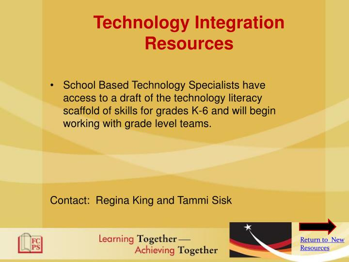 Technology Integration Resources