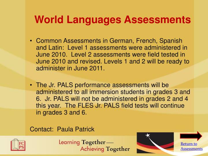 World Languages Assessments