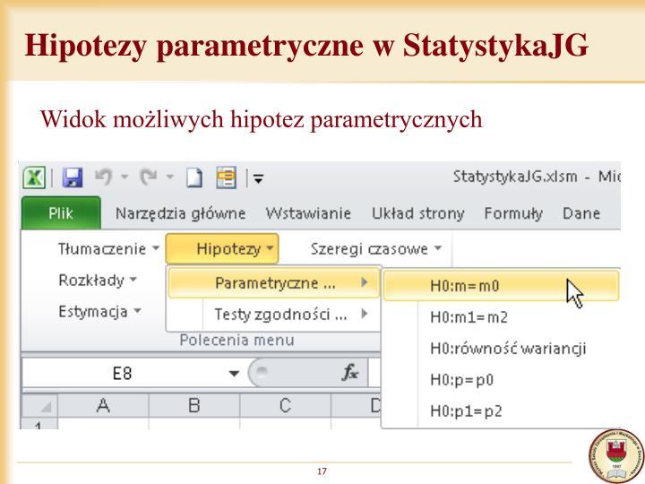 Hipotezy parametryczne w