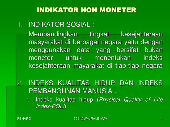 INDIKATOR NON MONETER