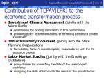 contribution of tepav epri to the economic transformation process