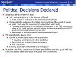 political decisions declared