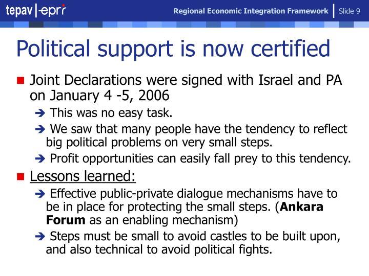 Regional Economic Integration Framework