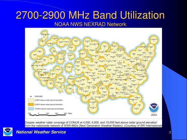 2700-2900 MHz Band Utilization