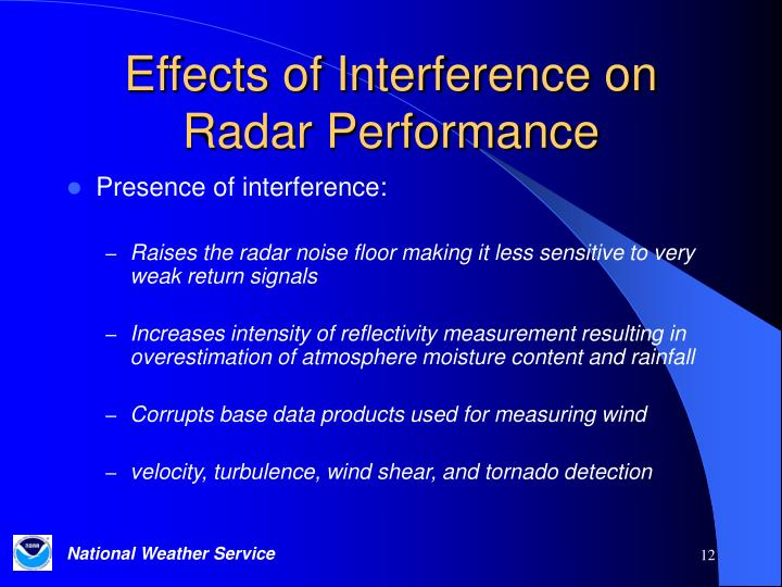 Effects of Interference on