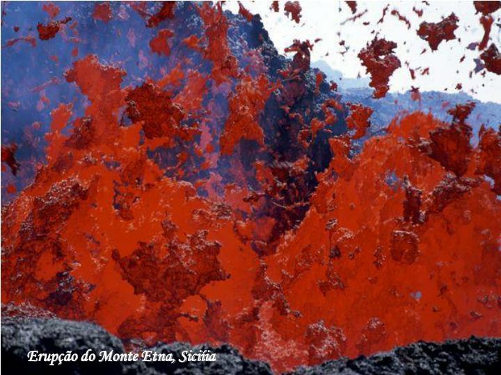 Erupção do Monte Etna, Siciíia
