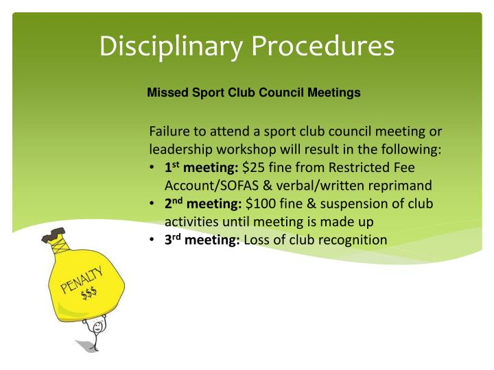 Missed Sport Club Council Meetings