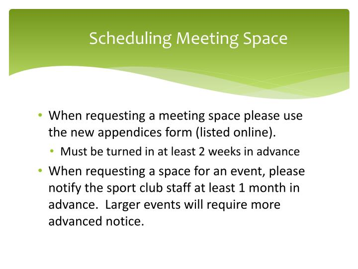Scheduling Meeting Space