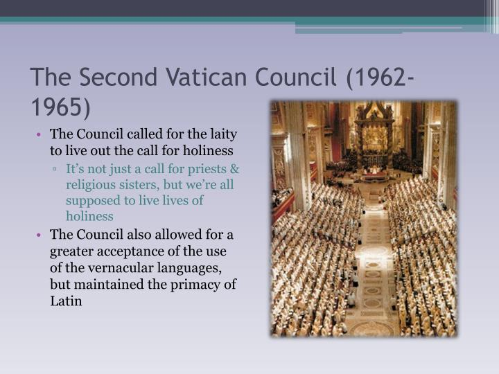 The Second Vatican Council (1962-1965)