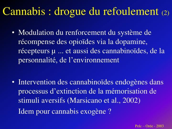 Cannabis : drogue du refoulement