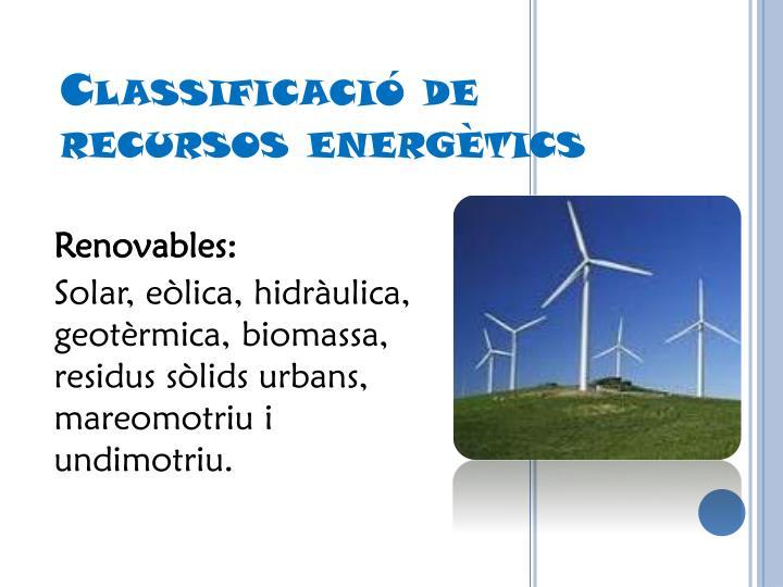 Renovables: