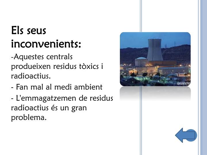 Els seus inconvenients: