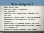 group assignment