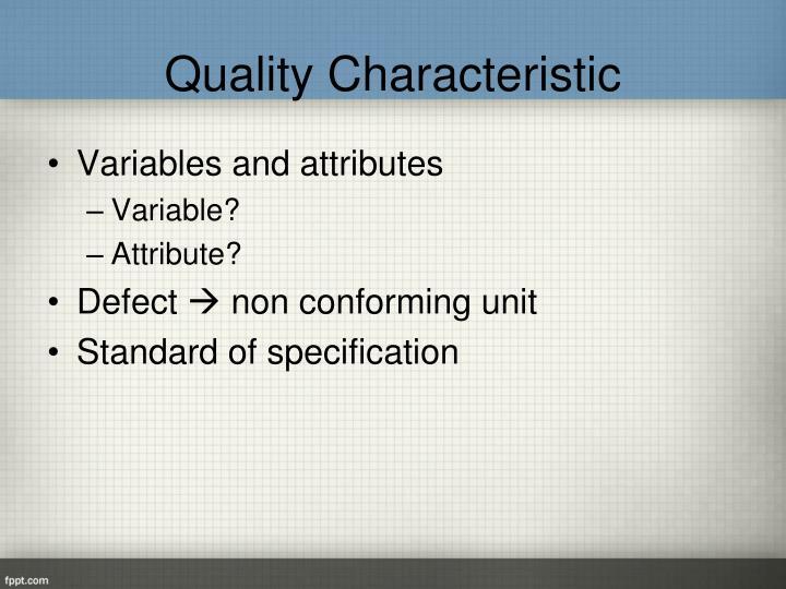 Quality Characteristic