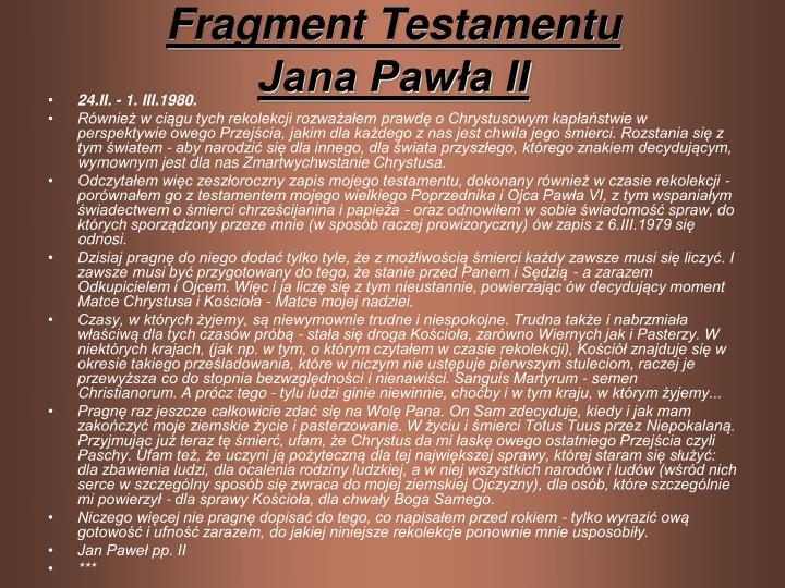 Fragment Testamentu