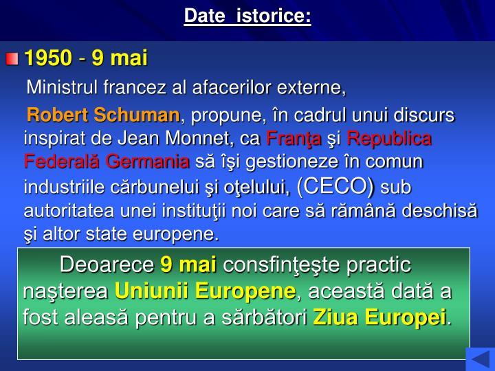 Date  istorice: