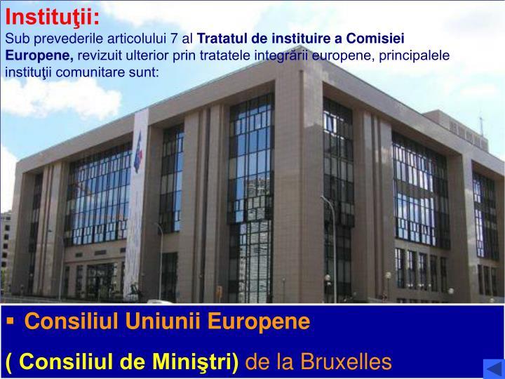 Instituţii