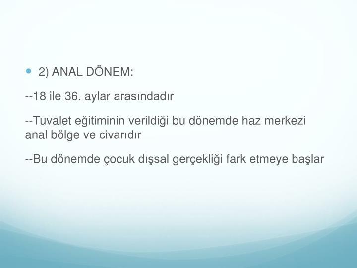 2) ANAL DÖNEM: